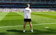 25 July 2021; Galway manager Padraic Joyce during the closing minutes of the Connacht GAA Senior Football Championship Final match between Galway and Mayo at Croke Park in Dublin. Photo by Ray McManus/Sportsfile