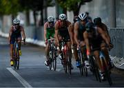 26 July 2021; Russell White, back centre, of Ireland in action during the Men's Triathlon at the Odaiba Marine Park during the 2020 Tokyo Summer Olympic Games in Tokyo, Japan. Photo by Ramsey Cardy/Sportsfile