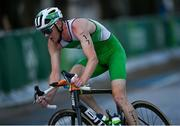 26 July 2021; Russell White of Ireland in action during the cycling stage of the Men's Triathlon at the Odaiba Marine Park during the 2020 Tokyo Summer Olympic Games in Tokyo, Japan. Photo by Ramsey Cardy/Sportsfile