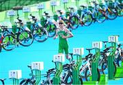 26 July 2021; Russell White of Ireland in action during the men's triathlon at the Odaiba Marine Park during the 2020 Tokyo Summer Olympic Games in Tokyo, Japan. Photo by Ramsey Cardy/Sportsfile