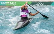 26 July 2021; Liam Jegou of Ireland in action during the men's C1 canoe slalom semi-final at the Kasai Canoe Slalom Centre during the 2020 Tokyo Summer Olympic Games in Tokyo, Japan. Photo by Stephen McCarthy/Sportsfile