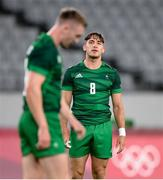 26 July 2021; Greg O'Shea, right, and Terry Kennedy of Ireland following the rugby sevens men's pool C match between Ireland and USA at the Tokyo Stadium during the 2020 Tokyo Summer Olympic Games in Tokyo, Japan. Photo by Stephen McCarthy/Sportsfile