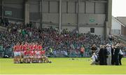 14 July 2013; The Cork team during the traditional team photograph before the game. Munster GAA Hurling Senior Championship Final, Limerick v Cork, Gaelic Grounds, Limerick. Picture credit: Diarmuid Greene / SPORTSFILE