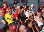 25 July 2021; Sligo Rovers supporters look on during the FAI Cup First Round match between Sligo Rovers and Cork City at The Showgrounds in Sligo. Photo by Michael P Ryan/Sportsfile