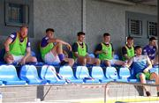24 July 2021; A view of the Finn Harps subs bench during the FAI Cup First Round match between Fairview Rangers and Finn Harps at Fairview Rangers AFC in Limerick. Photo by Michael P Ryan/Sportsfile