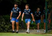 26 July 2021; Michael Milne, left, and David Hawkshaw during Leinster Rugby squad training at UCD in Dublin. Photo by Harry Murphy/Sportsfile