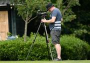 26 July 2021; Videographer Gavin Owens during Leinster Rugby squad training at UCD in Dublin. Photo by Harry Murphy/Sportsfile