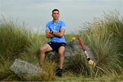 27 July 2021; Paddy Smyth of Dublin poses for a portrait during the GAA All-Ireland Senior Hurling Championship Launch at Dollymount Strand in Dublin. Photo by Sam Barnes/Sportsfile