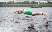 27 July 2021; Carolyn Hayes of Ireland starts the Women's Triathlon at the Odaiba Marine Park during the 2020 Tokyo Summer Olympic Games in Tokyo, Japan. Photo by Stephen McCarthy/Sportsfile