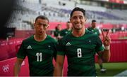 27 July 2021; Greg O'Shea, right, and Hugo Lennox of Ireland following the Men's Rugby Sevens 9th place play-off match between Ireland and Republic of Korea at the Tokyo Stadium during the 2020 Tokyo Summer Olympic Games in Tokyo, Japan. Photo by Stephen McCarthy/Sportsfile