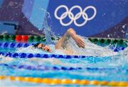 27 July 2021; Daniel Wiffen of Ireland in action during the heats of the 800 metre freestyle at the Tokyo Aquatics Centre during the 2020 Tokyo Summer Olympic Games in Tokyo, Japan. Photo by Ian MacNicol/Sportsfile