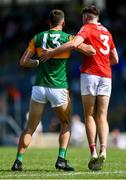 25 July 2021; David Clifford of Kerry is marked tightly by Seán Meehan of Cork during the Munster GAA Football Senior Championship Final match between Kerry and Cork at Fitzgerald Stadium in Killarney, Kerry. Photo by Piaras Ó Mídheach/Sportsfile
