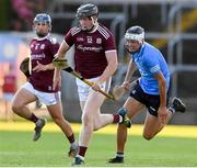 27 July 2021; John Cooney of Galway in action against Paddy Doyle of Dublin during the Leinster GAA U20 Hurling Championship Final match between Dublin and Galway at MW Hire O'Moore Park in Portlaoise, Laois. Photo by Matt Browne/Sportsfile