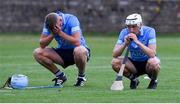 27 July 2021; Dublin players Brian Sheehy, left, and Davy Crowe after the Leinster GAA U20 Hurling Championship Final match between Dublin and Galway at MW Hire O'Moore Park in Portlaoise, Laois. Photo by Matt Browne/Sportsfile