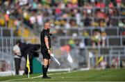 25 July 2021; Linesman Brendan Cawley during the Munster GAA Football Senior Championship Final match between Kerry and Cork at Fitzgerald Stadium in Killarney, Kerry. Photo by Piaras Ó Mídheach/Sportsfile