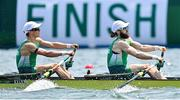 28 July 2021; Fintan McCarthy, left, and Paul O'Donovan of Ireland in action during the Men's Lightweight Double Sculls semi-final A/B at the Sea Forest Waterway during the 2020 Tokyo Summer Olympic Games in Tokyo, Japan. Photo by Seb Daly/Sportsfile