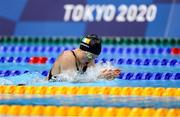 28 July 2021; Mona McSharry of Ireland in action during the heats of the women's 200 metre breaststroke at the Tokyo Aquatics Centre during the 2020 Tokyo Summer Olympic Games in Tokyo, Japan. Photo by Ian MacNicol/Sportsfile