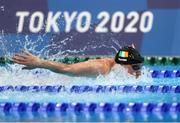 29 July 2021; Shane Ryan of Ireland in action during the heats of the Men's 100m Butterfly at the Tokyo Aquatics Centre during the 2020 Tokyo Summer Olympic Games in Tokyo, Japan. Photo by Ian MacNicol/Sportsfile