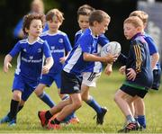 29 July 2021; Cillian O'Connor, age 8, in action during the Bank of Ireland Leinster Rugby Summer Camp at Blackrock RFC in Dublin. Photo by Matt Browne/Sportsfile