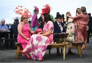 29 July 2021; Racegoers Jennifer, left, and Eimear McCabe, from Longford, prior to racing on day four of the Galway Races Summer Festival at Ballybrit Racecourse in Galway. Photo by David Fitzgerald/Sportsfile
