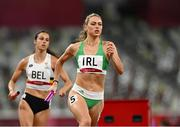 30 July 2021; Sophie Becker of Ireland in action during the 4x400 metre mixed relay at the Olympic Stadium during the 2020 Tokyo Summer Olympic Games in Tokyo, Japan. Photo by Ramsey Cardy/Sportsfile