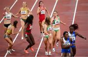 30 July 2021; Phil Healy and Sophie Becker of Ireland in action during the 4x400 metre mixed relay at the Olympic Stadium during the 2020 Tokyo Summer Olympic Games in Tokyo, Japan. Photo by Stephen McCarthy/Sportsfile