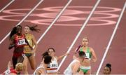 30 July 2021; Sophie Becker and Christopher O'Donnell of Ireland in action during the 4x400 metre mixed relay at the Olympic Stadium during the 2020 Tokyo Summer Olympic Games in Tokyo, Japan. Photo by Stephen McCarthy/Sportsfile