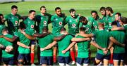30 July 2021; British & Irish Lions team huddle during the British & Irish Lions Captain's Run at Cape Town Stadium in Cape Town, South Africa. Photo by Ashley Vlotman/Sportsfile