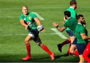 30 July 2021; Duhan van der Merwe, left, passes the ball to team-mate Robbie Henshaw of British and Irish Lions during the British & Irish Lions Captain's Run at Cape Town Stadium in Cape Town, South Africa. Photo by Ashley Vlotman/Sportsfile