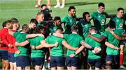 30 July 2021; British and Irish Lions team huddle during the British & Irish Lions Captain's Run at Cape Town Stadium in Cape Town, South Africa. Photo by Ashley Vlotman/Sportsfile