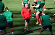 30 July 2021; British and Irish Lions head coach Warren Gatland watches on during the British & Irish Lions Captain's Run at Cape Town Stadium in Cape Town, South Africa. Photo by Ashley Vlotman/Sportsfile