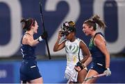 24 July 2021; Roisin Upton of Ireland celebrates after scoring her side's first goal during the Women's Pool A Group Stage match between Ireland and South Africa at the Oi Hockey Stadium during the 2020 Tokyo Summer Olympic Games in Tokyo, Japan. Photo by Ramsey Cardy/Sportsfile