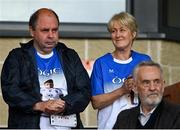 30 July 2021; Brendan and Esther Duffy, the parents of the late Brendan Óg Duffy, captain of the Monaghan U20 football team who passed away recently, in attendance at the EirGrid Ulster GAA Football U20 Championship Final match between Down and Monaghan at Athletic Grounds in Armagh. Photo by Piaras Ó Mídheach/Sportsfile