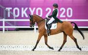 31 July 2021; Sarah Ennis of Ireland riding Horseware Woodcourt Garrison during eventing dressage team and individual day two at the Equestrian Park during the 2020 Tokyo Summer Olympic Games in Tokyo, Japan. Photo by Stephen McCarthy/Sportsfile