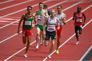 31 July 2021; Mark English of Ireland, second left, in action during round one of the men's 800 metres heats at the Olympic Stadium during the 2020 Tokyo Summer Olympic Games in Tokyo, Japan. Photo by Brendan Moran/Sportsfile