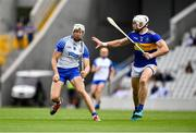 31 July 2021; Jack Fagan of Waterford in action against Padraic Maher of Tipperary during the GAA Hurling All-Ireland Senior Championship Quarter-Final match between Tipperary and Waterford at Pairc Ui Chaoimh in Cork. Photo by Daire Brennan/Sportsfile