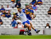 31 July 2021; Jack Prendergast of Waterford in action against Paddy Cadell of Tipperary during the GAA Hurling All-Ireland Senior Championship Quarter-Final match between Tipperary and Waterford at Pairc Ui Chaoimh in Cork. Photo by Daire Brennan/Sportsfile