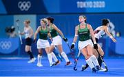 31 July 2021; Roisin Upton of Ireland reacts after a decision is given against her during the women's pool A group stage match between Great Britain and Ireland at the Oi Hockey Stadium during the 2020 Tokyo Summer Olympic Games in Tokyo, Japan. Photo by Stephen McCarthy/Sportsfile