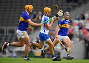 31 July 2021; Jack Prendergast of Waterford in action against Ronan Maher of Tipperary during the GAA Hurling All-Ireland Senior Championship Quarter-Final match between Tipperary and Waterford at Pairc Ui Chaoimh in Cork. Photo by Daire Brennan/Sportsfile