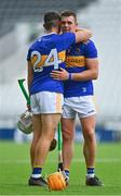 31 July 2021; Ronan Maher, left, of Tipperary with team-mate Niall O'Meara after the GAA Hurling All-Ireland Senior Championship Quarter-Final match between Tipperary and Waterford at Pairc Ui Chaoimh in Cork. Photo by Eóin Noonan/Sportsfile