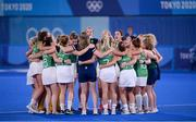 31 July 2021; Ireland players after their women's pool A group stage match against Great Britain at the Oi Hockey Stadium during the 2020 Tokyo Summer Olympic Games in Tokyo, Japan. Photo by Stephen McCarthy/Sportsfile