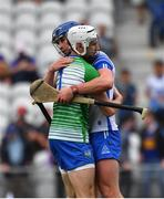 31 July 2021; Shaun O'Brien, left, and Conor Prunty of Waterford celebrate after the GAA Hurling All-Ireland Senior Championship Quarter-Final match between Tipperary and Waterford at Pairc Ui Chaoimh in Cork. Photo by Daire Brennan/Sportsfile
