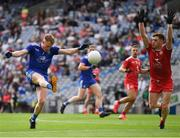 31 July 2021; Ryan McAnespie of Monaghan shoots past Conor Meyler of Tyrone during the Ulster GAA Football Senior Championship Final match between Monaghan and Tyrone at Croke Park in Dublin. Photo by Ray McManus/Sportsfile