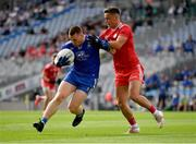 31 July 2021; Micheál Bannigan of Monaghan is tackled by Michael McKernan of Tyrone during the Ulster GAA Football Senior Championship Final match between Monaghan and Tyrone at Croke Park in Dublin. Photo by Ray McManus/Sportsfile