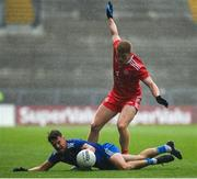31 July 2021; Peter Harte of Tyrone in action against Ryan Wylie of Monaghan during the Ulster GAA Football Senior Championship Final match between Monaghan and Tyrone at Croke Park in Dublin. Photo by Harry Murphy/Sportsfile