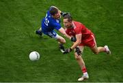 31 July 2021; Kieran McGeary of Tyrone in action against Conor McManus of Monaghan during the Ulster GAA Football Senior Championship Final match between Monaghan and Tyrone at Croke Park in Dublin. Photo by Sam Barnes/Sportsfile