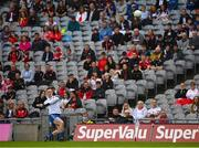 31 July 2021; Monaghan goalkeeper Rory Beggan attempts to kick a point during the Ulster GAA Football Senior Championship Final match between Monaghan and Tyrone at Croke Park in Dublin. Photo by Harry Murphy/Sportsfile