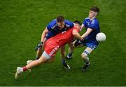 31 July 2021; Pádraig Hampsey of Tyrone in action against Conor McManus, left, and Stephen O'Hanlon of Monaghan during the Ulster GAA Football Senior Championship Final match between Monaghan and Tyrone at Croke Park in Dublin. Photo by Sam Barnes/Sportsfile