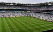 31 July 2021; A general view as all players from both teams are seen in one half of the pitch during the Ulster GAA Football Senior Championship Final match between Monaghan and Tyrone at Croke Park in Dublin. Photo by Sam Barnes/Sportsfile