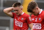 31 July 2021; Tommy Walsh and Colm O'Donovan of Cork after the 2021 EirGrid GAA All-Ireland Football U20 Championship Semi-Final match between Cork and Offaly at MW Hire O'Moore Park in Portlaoise, Laois. Photo by Matt Browne/Sportsfile